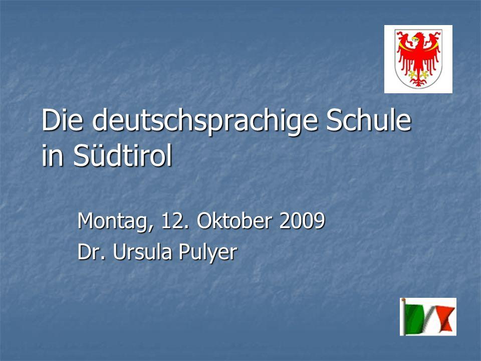 Die deutschsprachige Schule in Südtirol