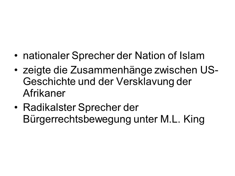 nationaler Sprecher der Nation of Islam
