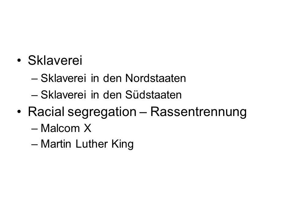 Racial segregation – Rassentrennung