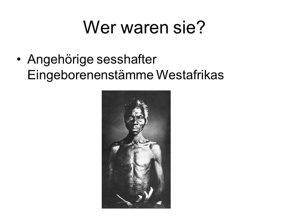 Wer waren sie Angehörige sesshafter Eingeborenenstämme Westafrikas