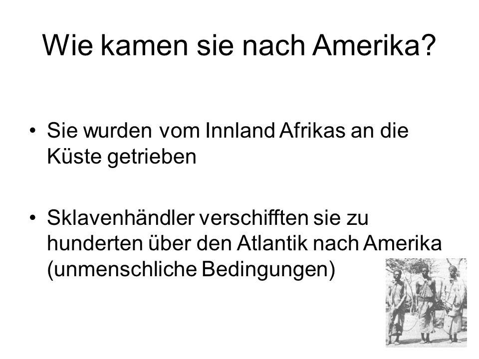 Wie kamen sie nach Amerika