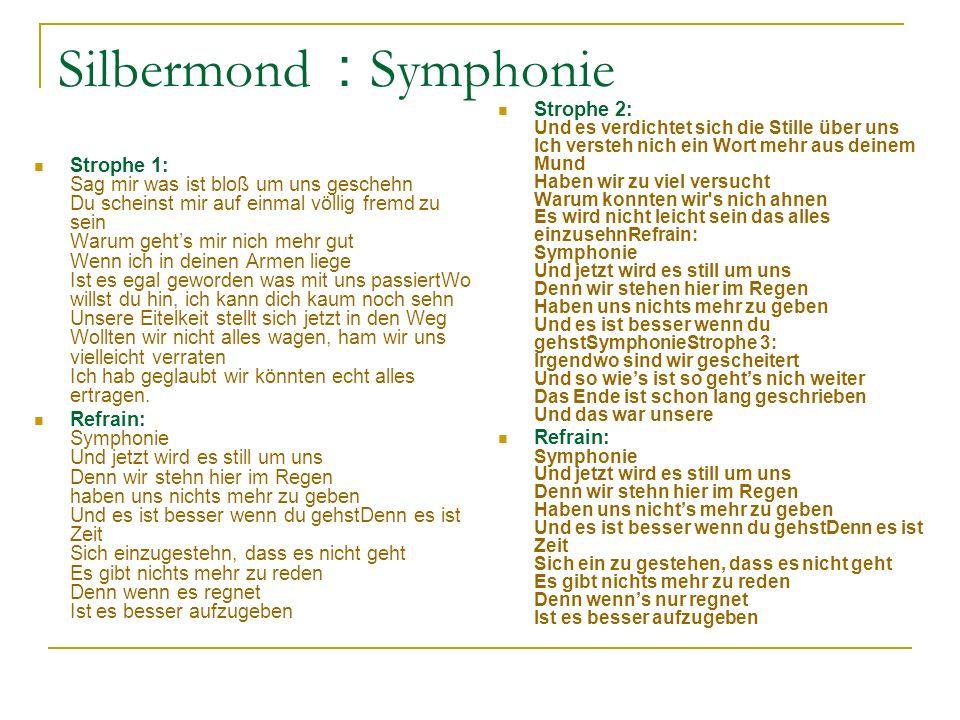Silbermond : Symphonie