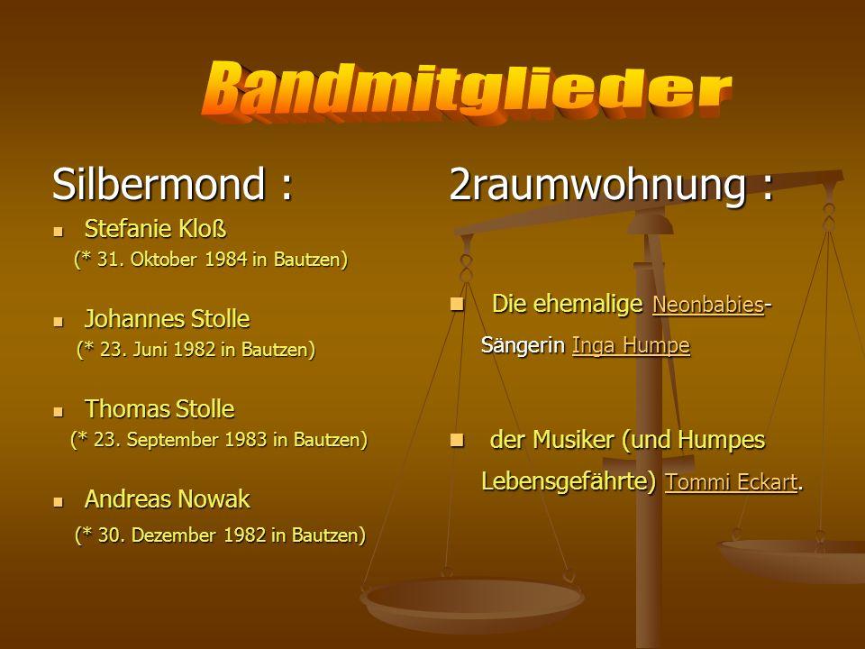 Bandmitglieder Silbermond : 2raumwohnung :