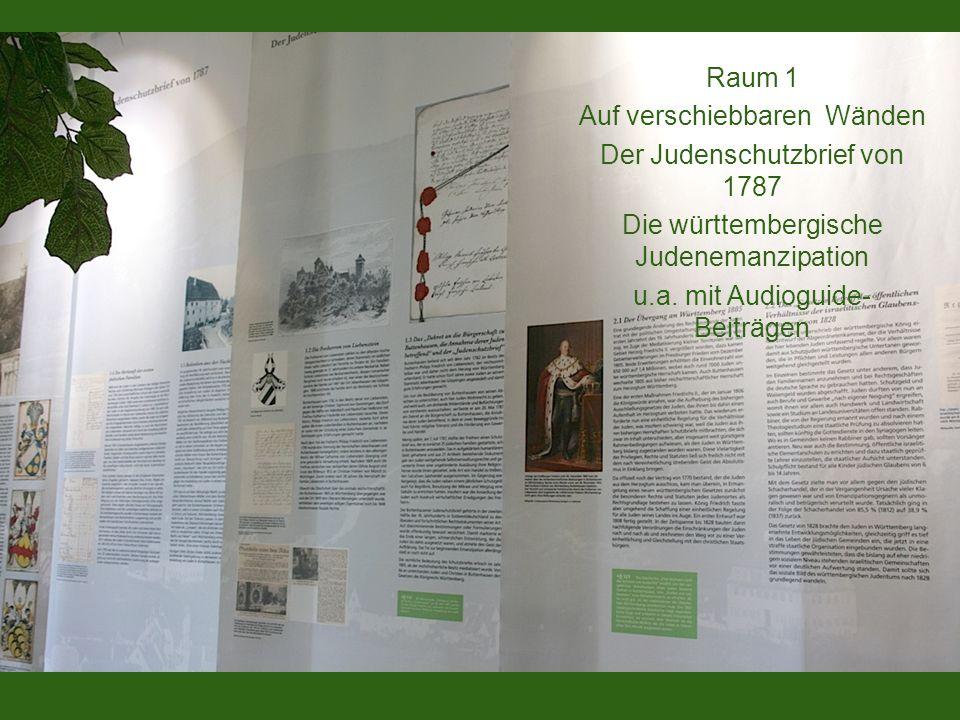 Auf verschiebbaren Wänden Der Judenschutzbrief von 1787