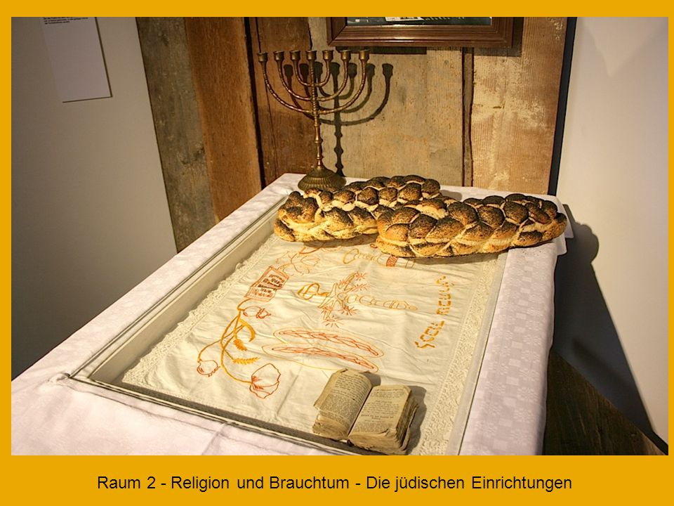 Raum 2 Jüdische Kultur in Buttenhausen