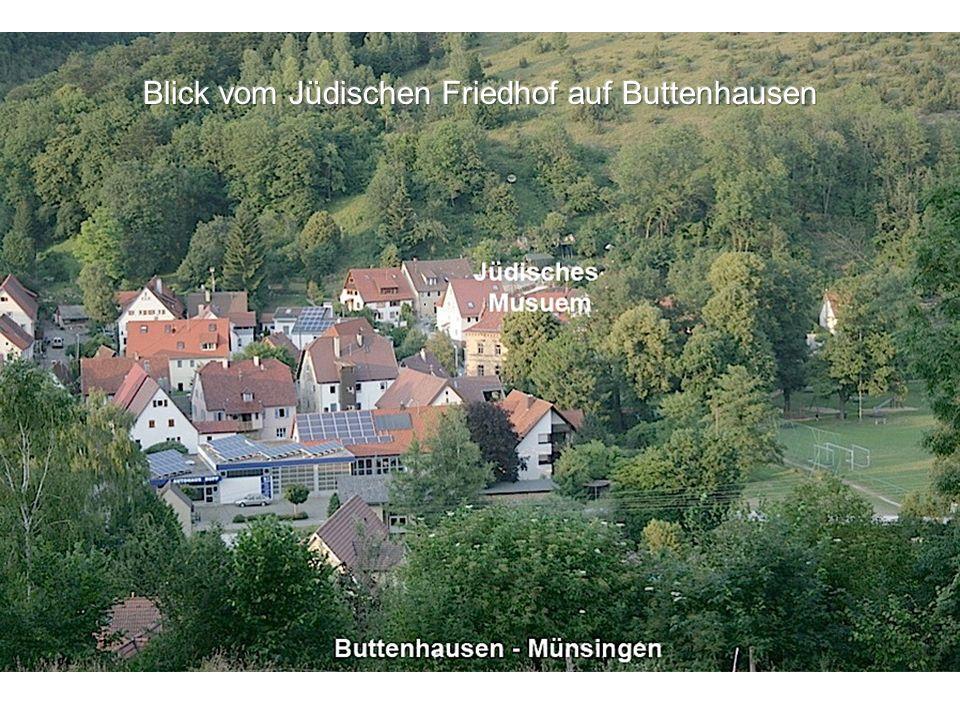 Blick vom Jüdischen Friedhof auf Buttenhausen