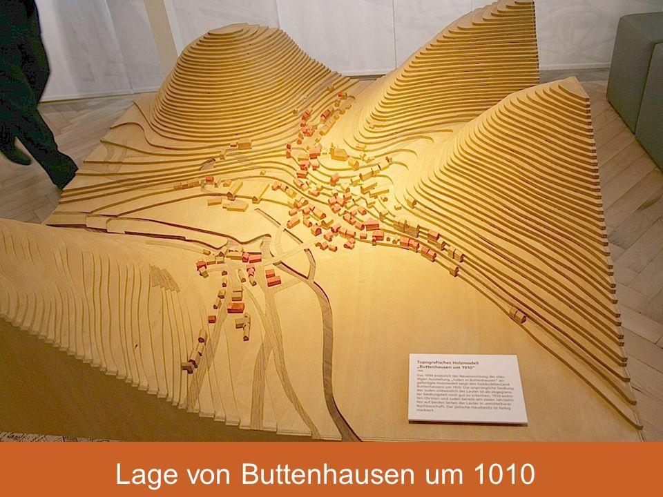 Lage von Buttenhausen um 1910