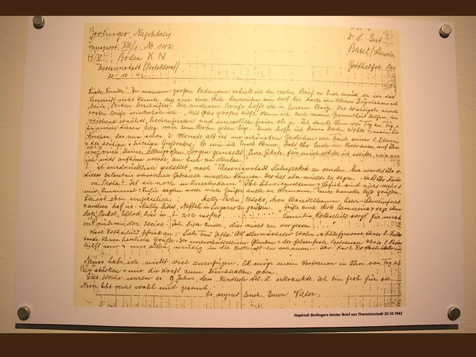 Brief von Lehrer Berlinger 20.10. 1942