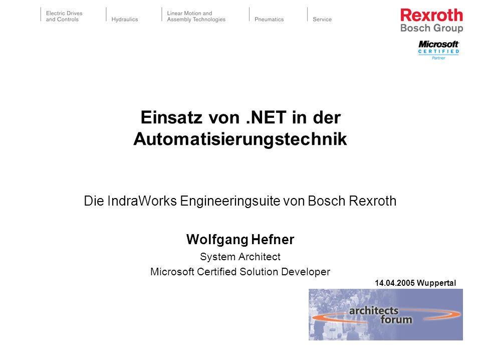 Einsatz von .NET in der Automatisierungstechnik