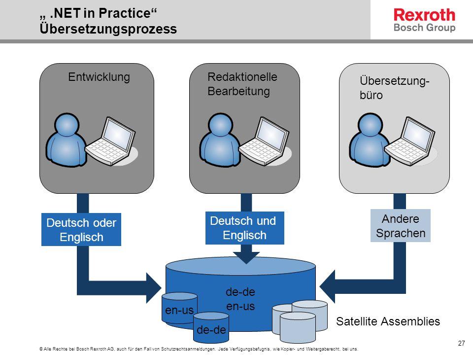 """"""" .NET in Practice Übersetzungsprozess"""