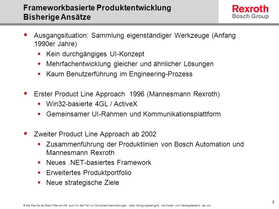 Frameworkbasierte Produktentwicklung Bisherige Ansätze