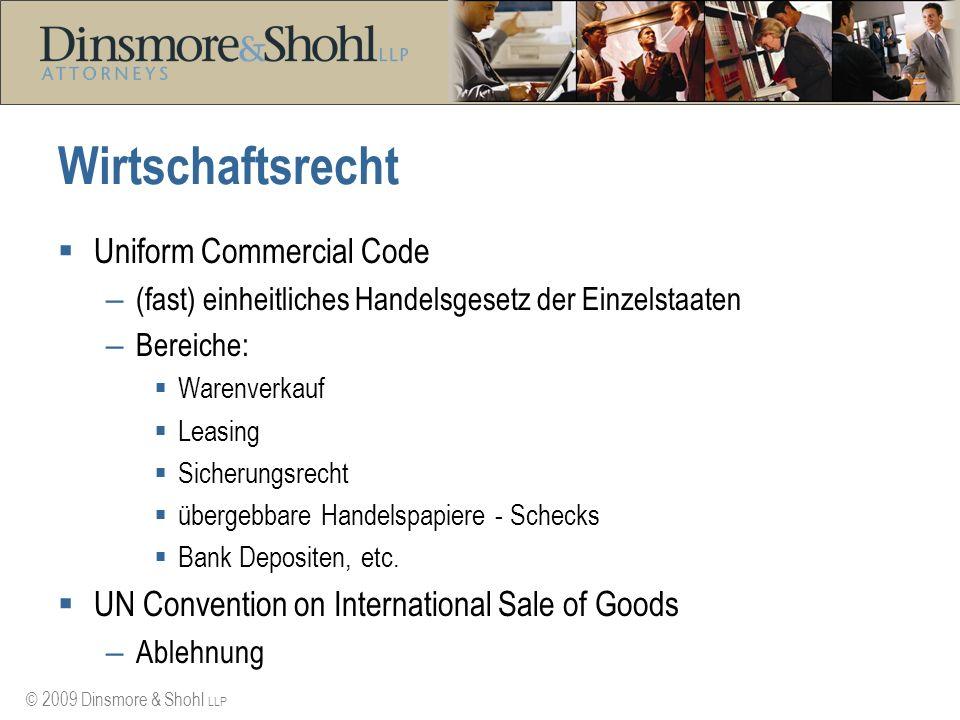 Wirtschaftsrecht Uniform Commercial Code