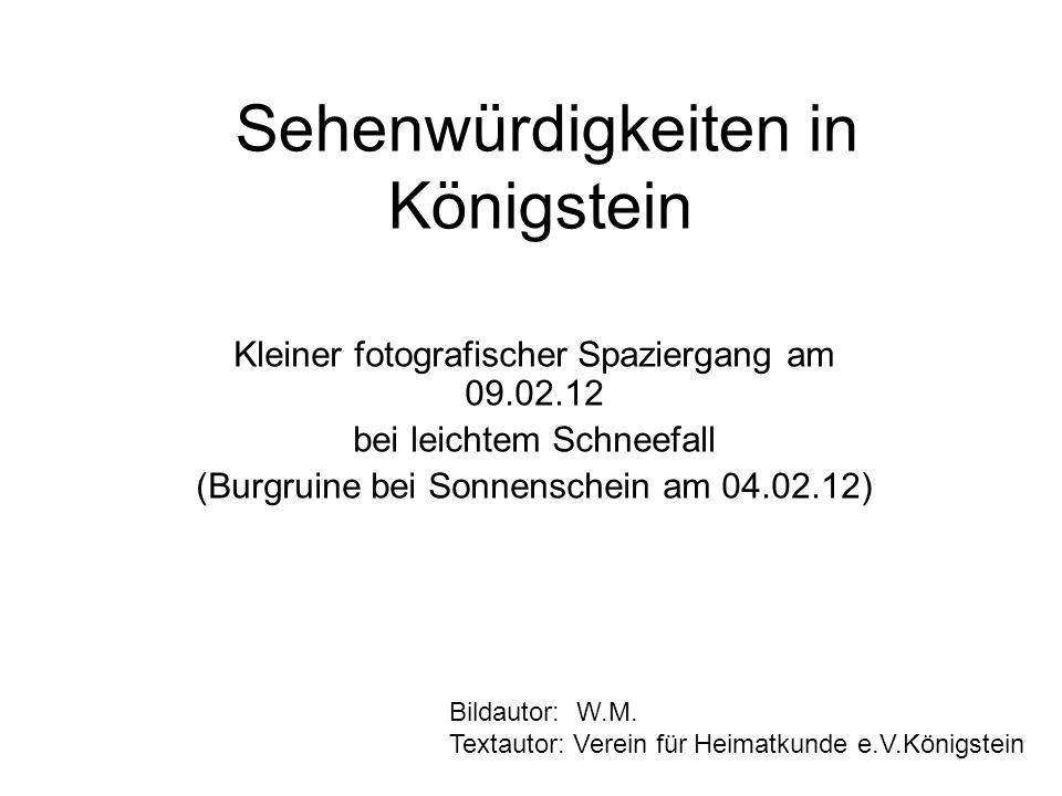 Sehenwürdigkeiten in Königstein