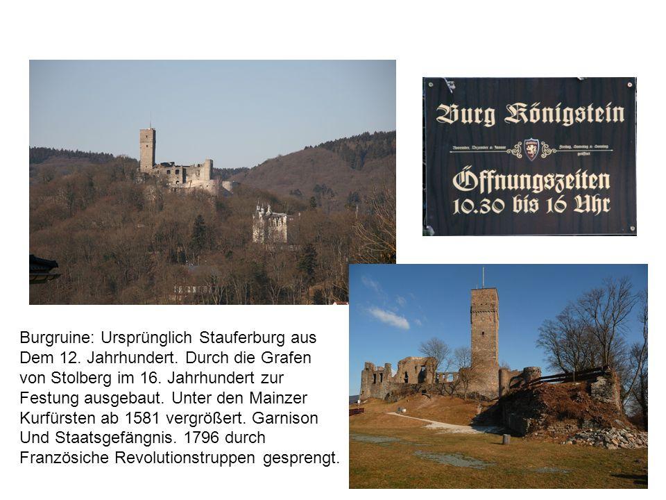 Burgruine: Ursprünglich Stauferburg aus