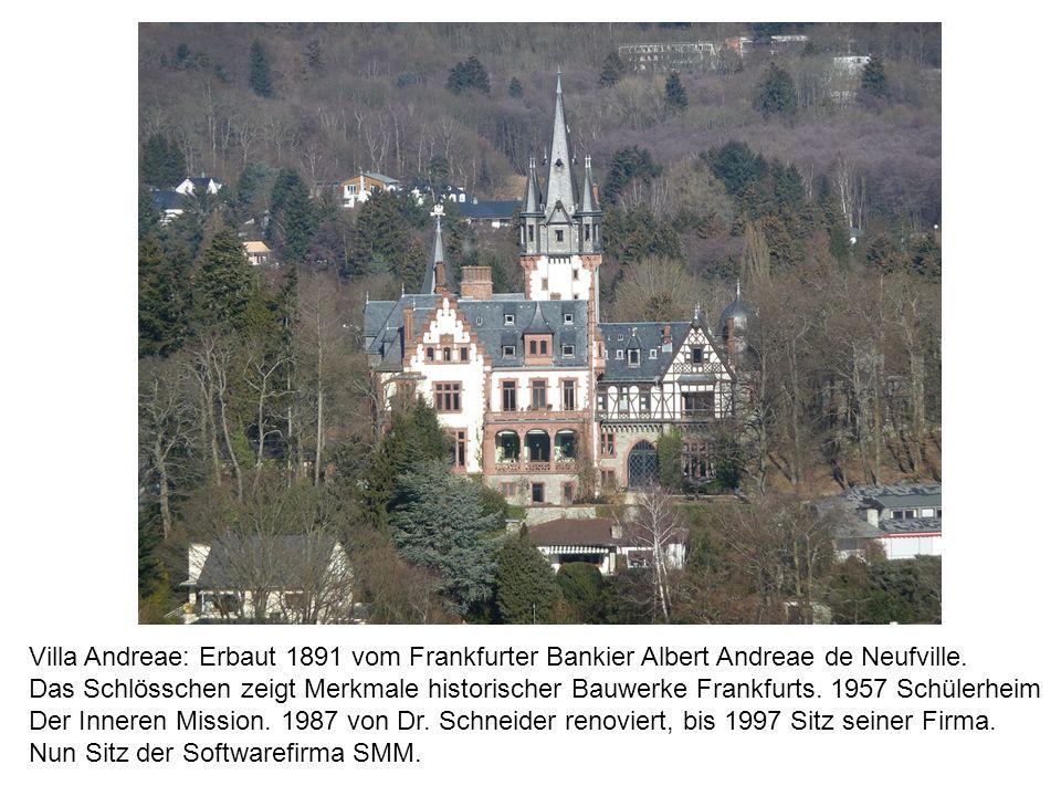 Villa Andreae: Erbaut 1891 vom Frankfurter Bankier Albert Andreae de Neufville.