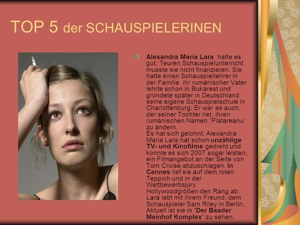 TOP 5 der SCHAUSPIELERINEN