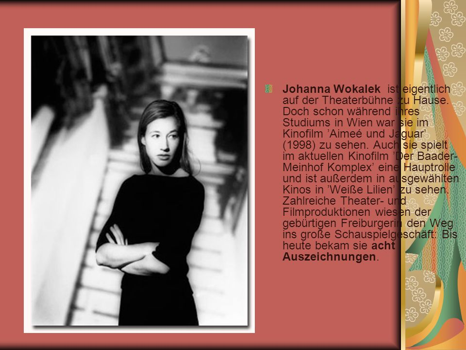 Johanna Wokalek ist eigentlich auf der Theaterbühne zu Hause