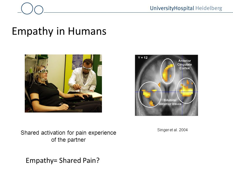 Shared activation for pain experience