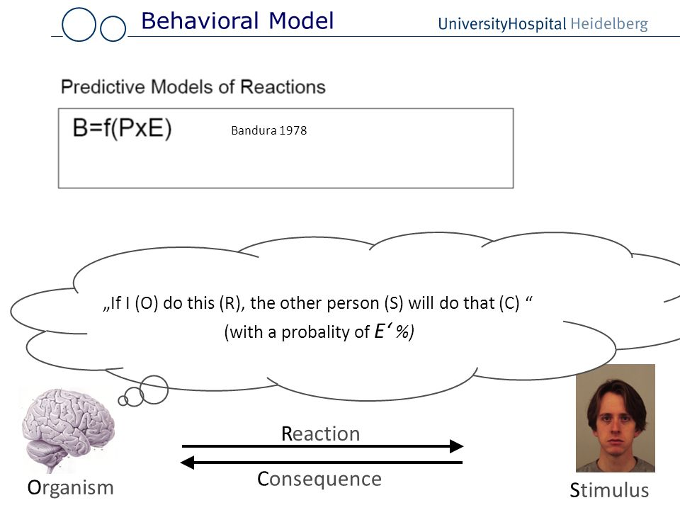 Behavioral Model Reaction Consequence Organism Stimulus