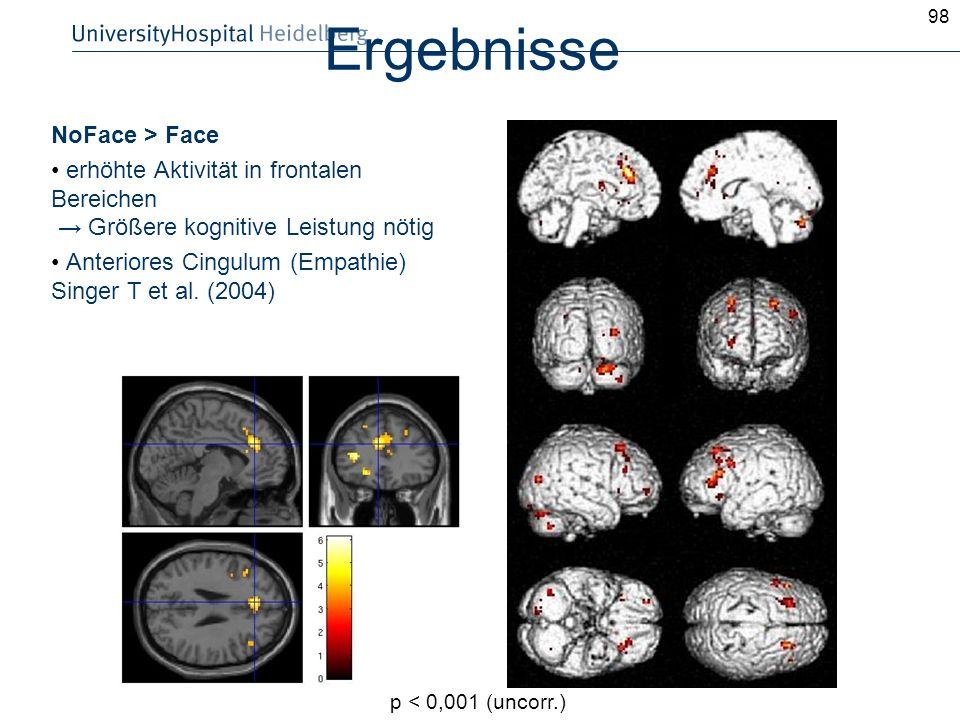 Ergebnisse NoFace > Face