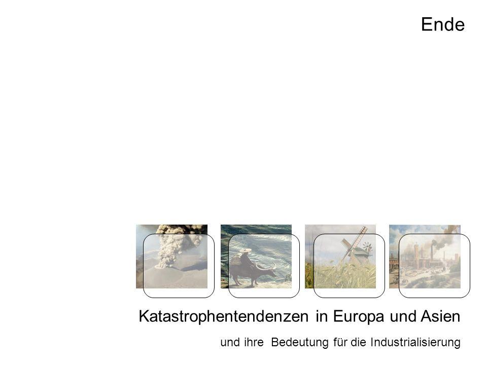 Katastrophentendenzen in Europa und Asien