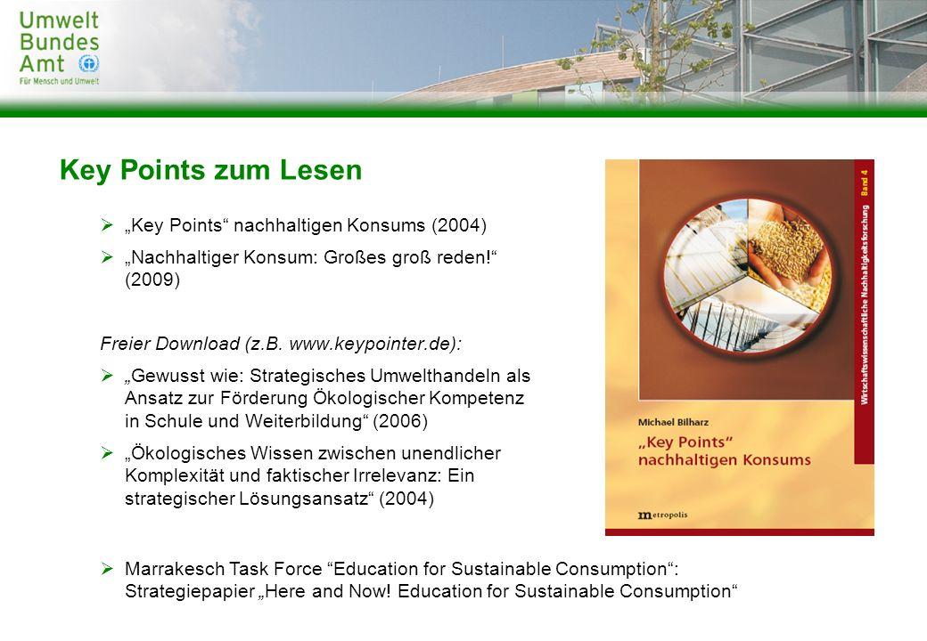 """Key Points zum Lesen """"Key Points nachhaltigen Konsums (2004)"""