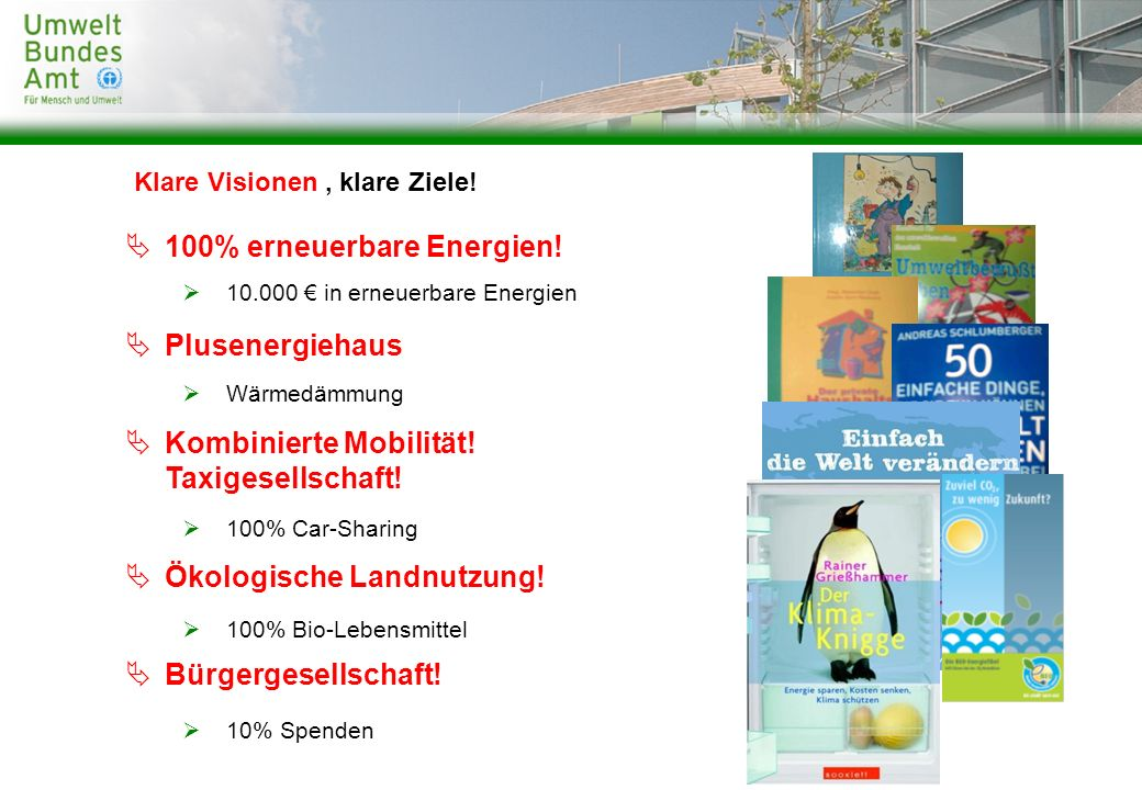 100% erneuerbare Energien!