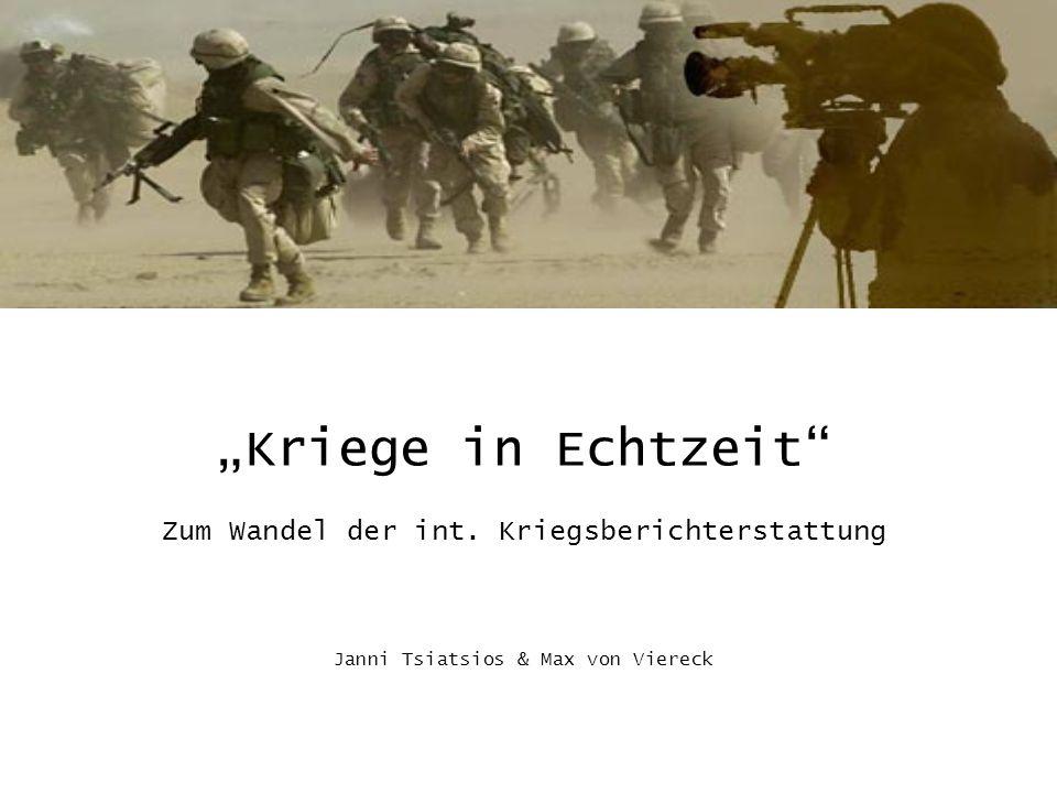 """""""Kriege in Echtzeit Zum Wandel der int"""