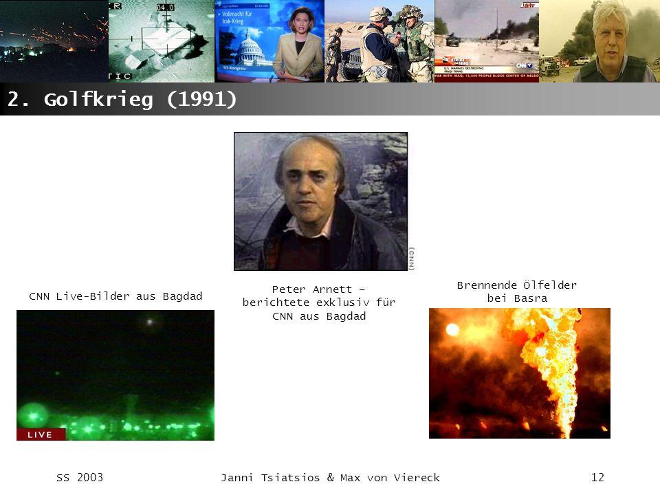 2. Golfkrieg (1991) Brennende Ölfelder bei Basra