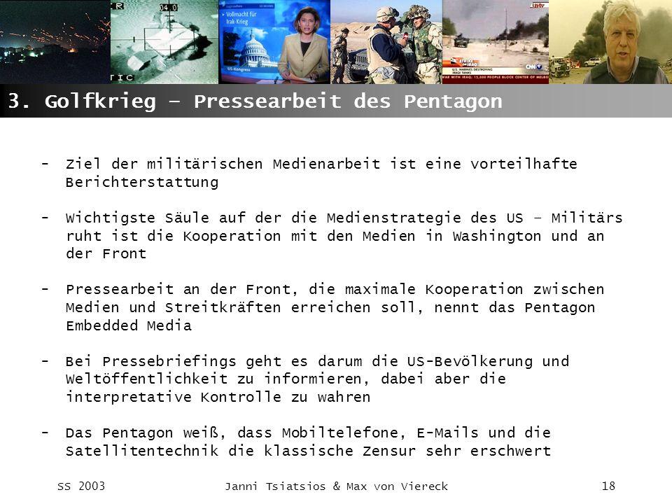 3. Golfkrieg – Pressearbeit des Pentagon