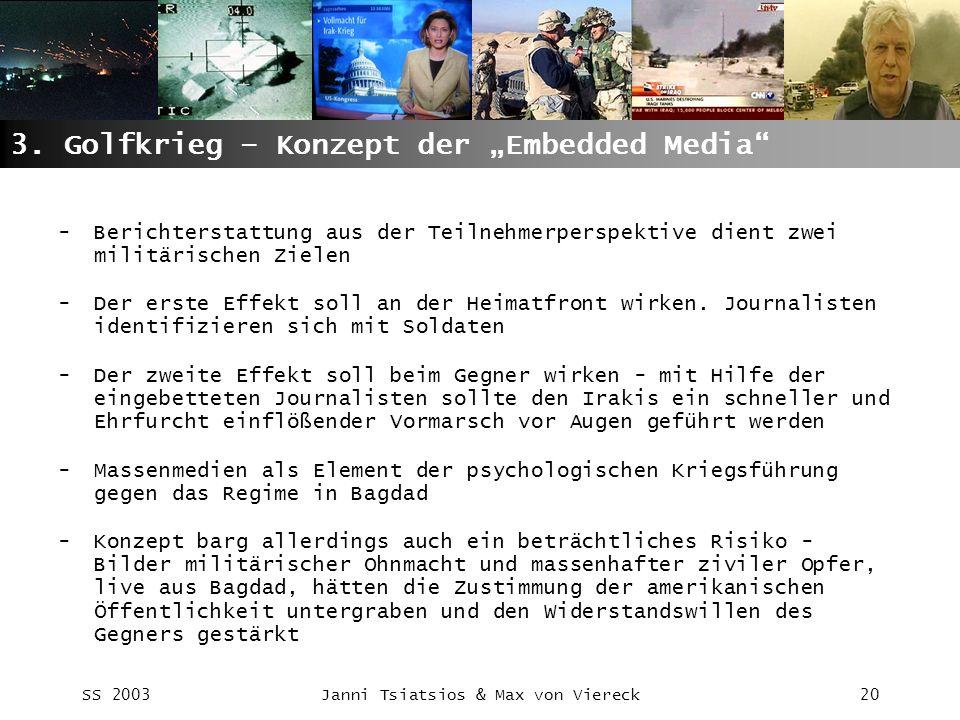 "3. Golfkrieg – Konzept der ""Embedded Media"