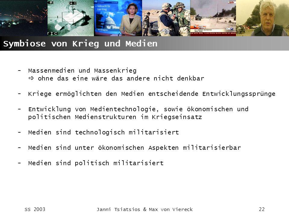 Symbiose von Krieg und Medien