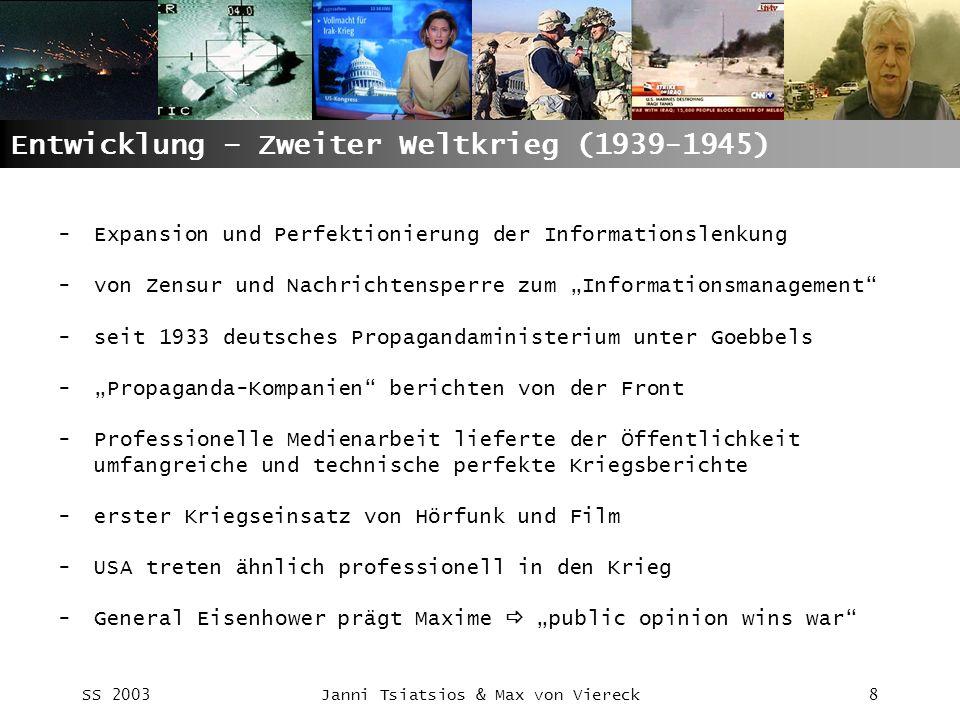 Entwicklung – Zweiter Weltkrieg (1939-1945)