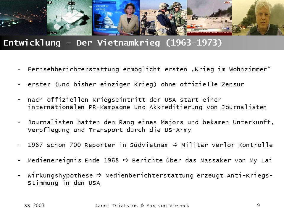 Entwicklung – Der Vietnamkrieg (1963-1973)