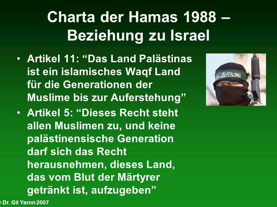 Charta der Hamas 1988 – Beziehung zu Israel