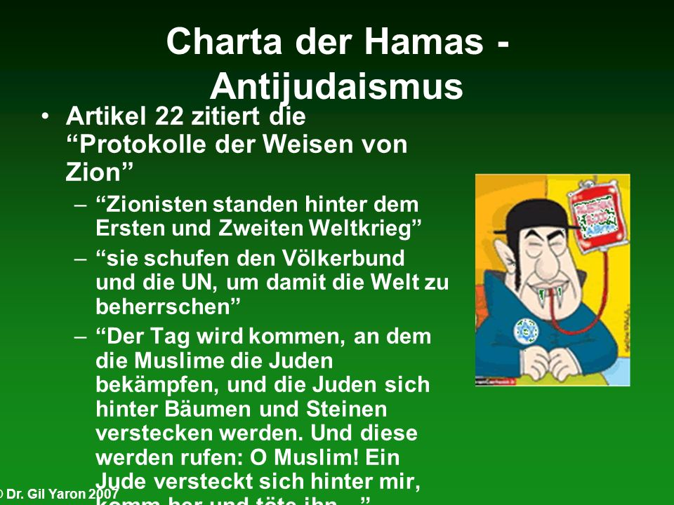 Charta der Hamas - Antijudaismus