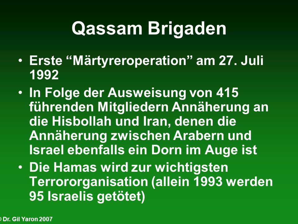 Qassam Brigaden Erste Märtyreroperation am 27. Juli 1992