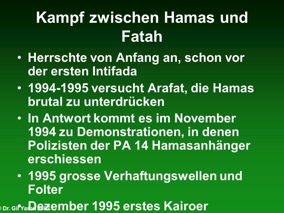 Kampf zwischen Hamas und Fatah