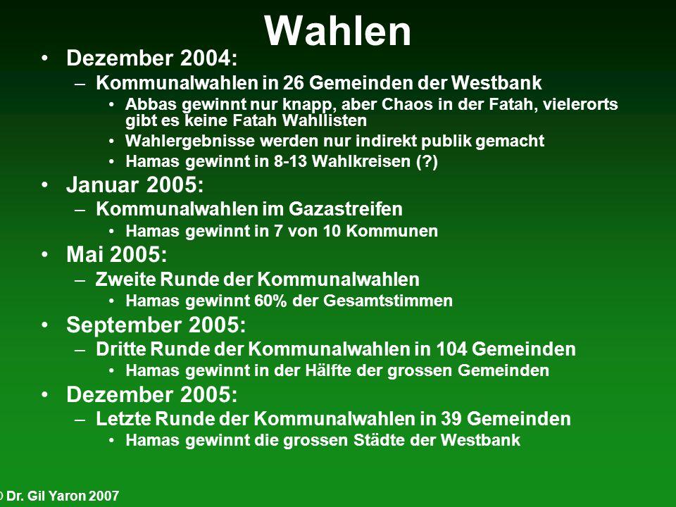 Wahlen Dezember 2004: Januar 2005: Mai 2005: September 2005: