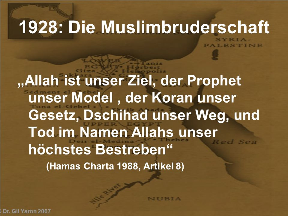 1928: Die Muslimbruderschaft