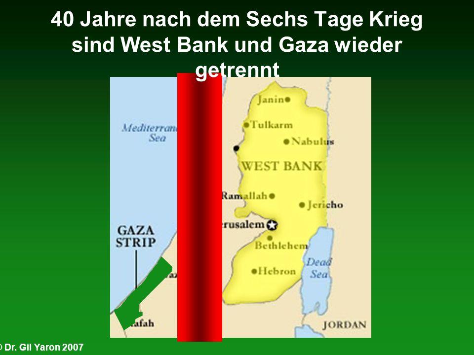 40 Jahre nach dem Sechs Tage Krieg sind West Bank und Gaza wieder getrennt