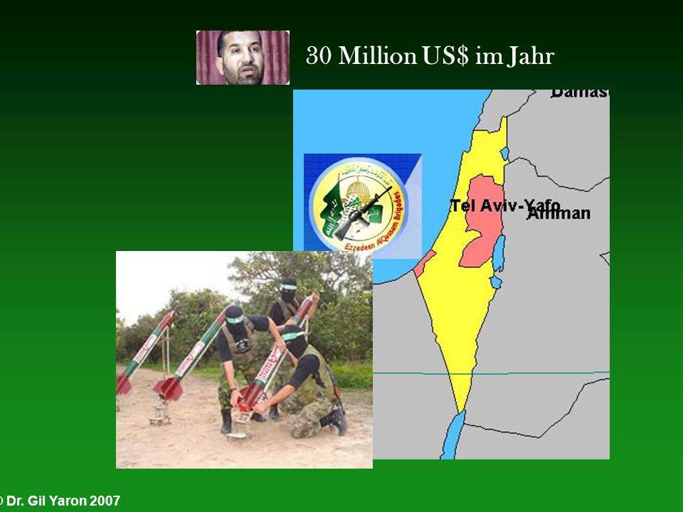 30 Million US$ im Jahr © Dr. Gil Yaron 2007