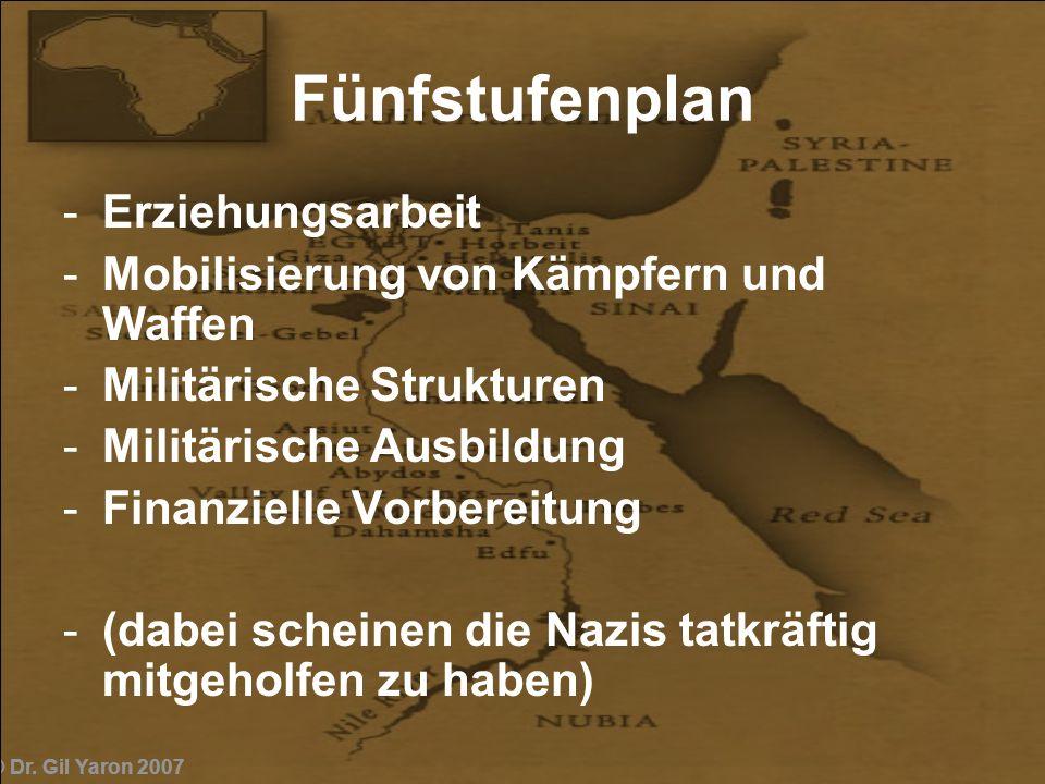 Fünfstufenplan Erziehungsarbeit Mobilisierung von Kämpfern und Waffen