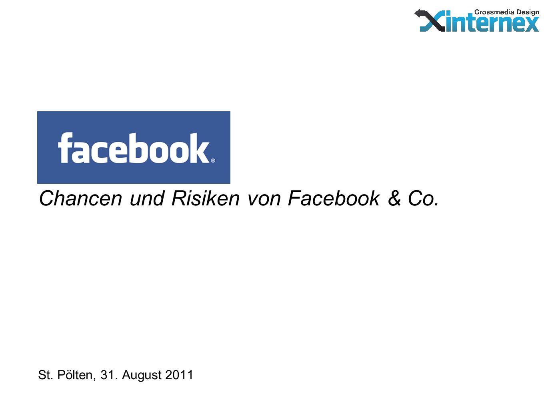 Chancen und Risiken von Facebook & Co. St. Pölten, 31. August 2011