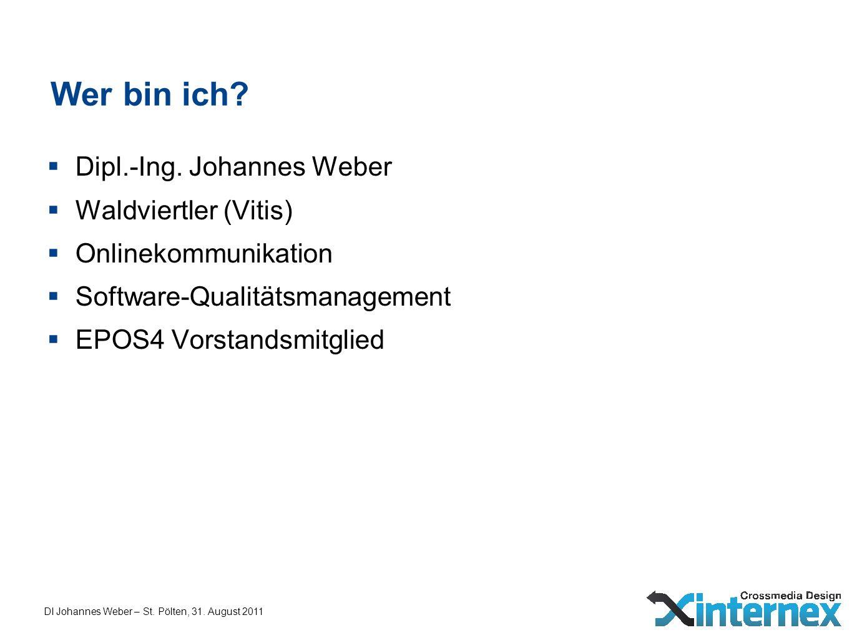 Wer bin ich Dipl.-Ing. Johannes Weber Waldviertler (Vitis)