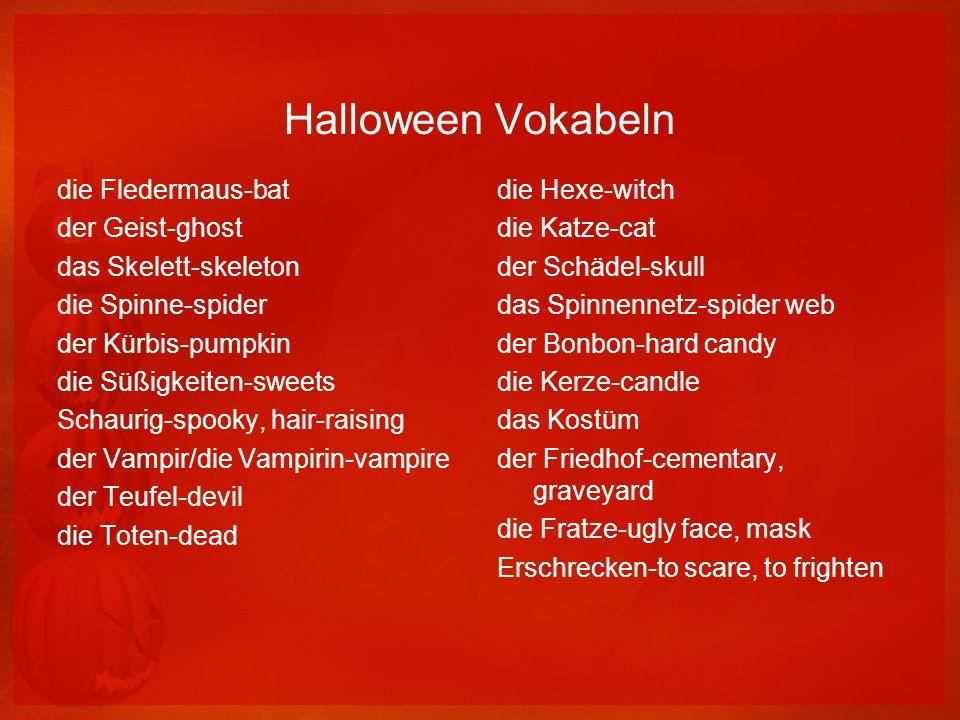 Halloween Vokabeln die Fledermaus-bat der Geist-ghost