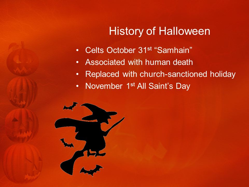 History of Halloween Celts October 31st Samhain