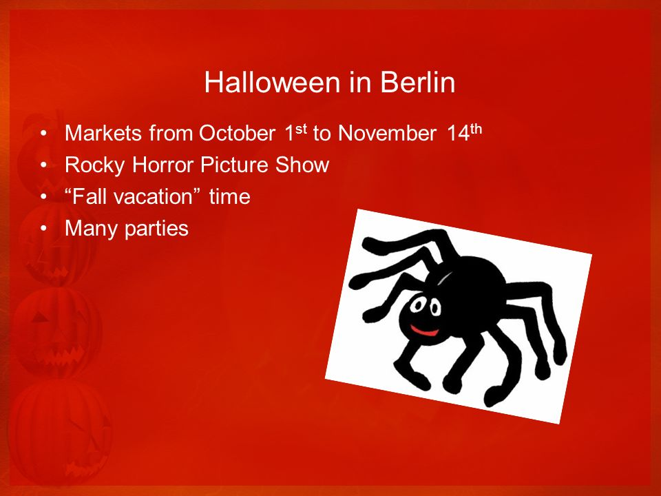 Halloween in Berlin Markets from October 1st to November 14th