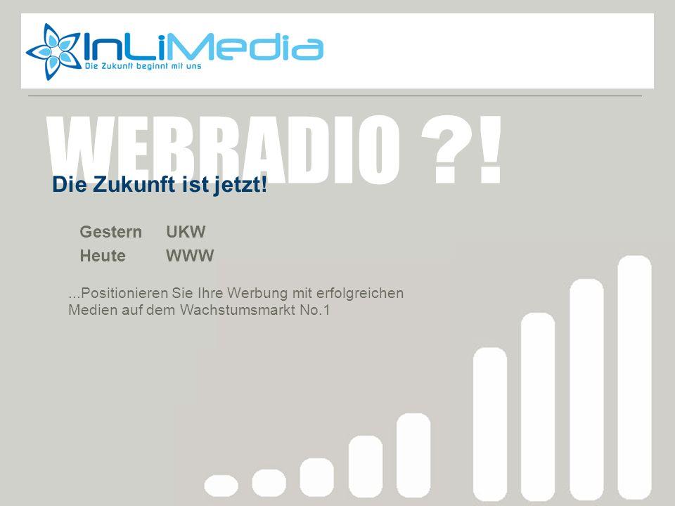 WEBRADIO ! Webradio zukunft Die Zukunft ist jetzt! Gestern UKW