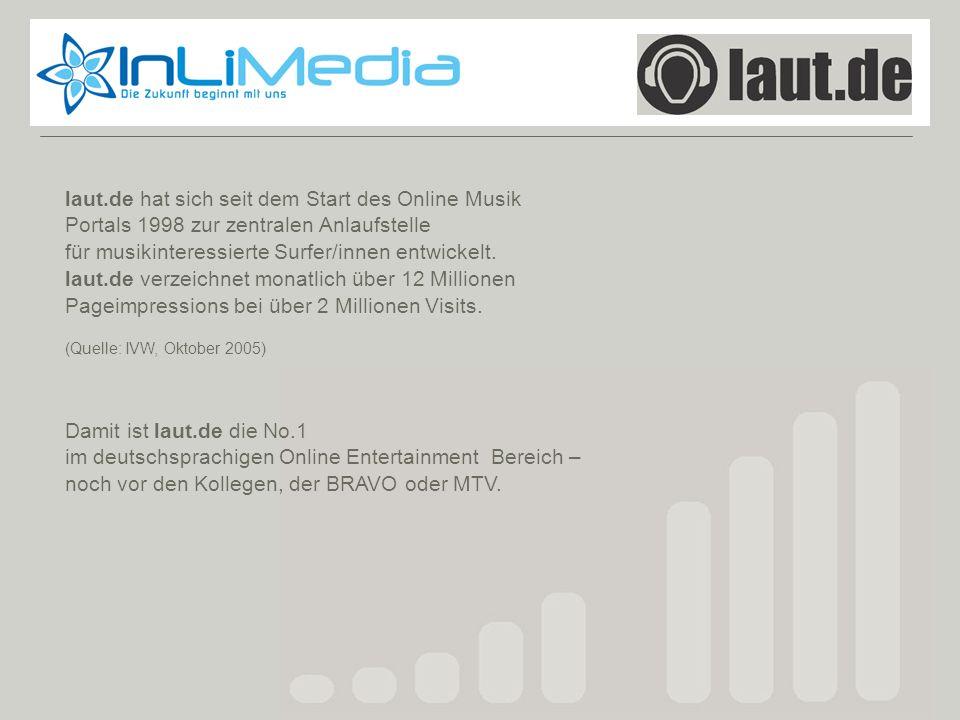 Laut.de laut.de hat sich seit dem Start des Online Musik